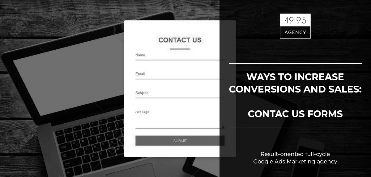 How to increase conversions and sales: Contact form on the website